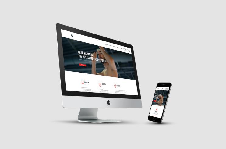 Mockup Arno Kamminga Complete Website